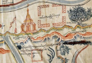 Map of Maingnyaung region (Cambridge University Library, MS.Plans.R.C.1, courtesy of Rachel Rowe)